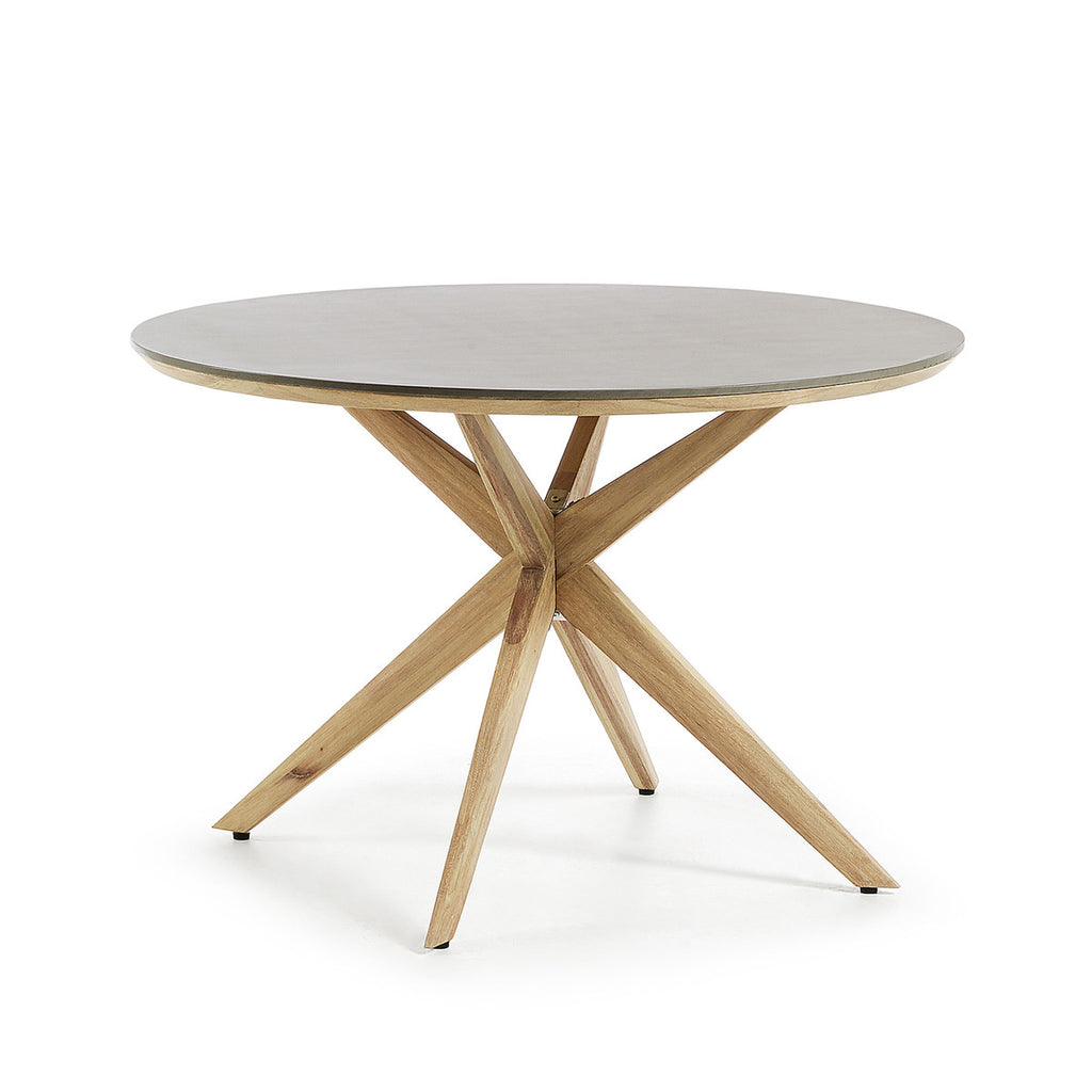 Glow Table Ø120 Eucalyptus Frame Poly-Cement Top