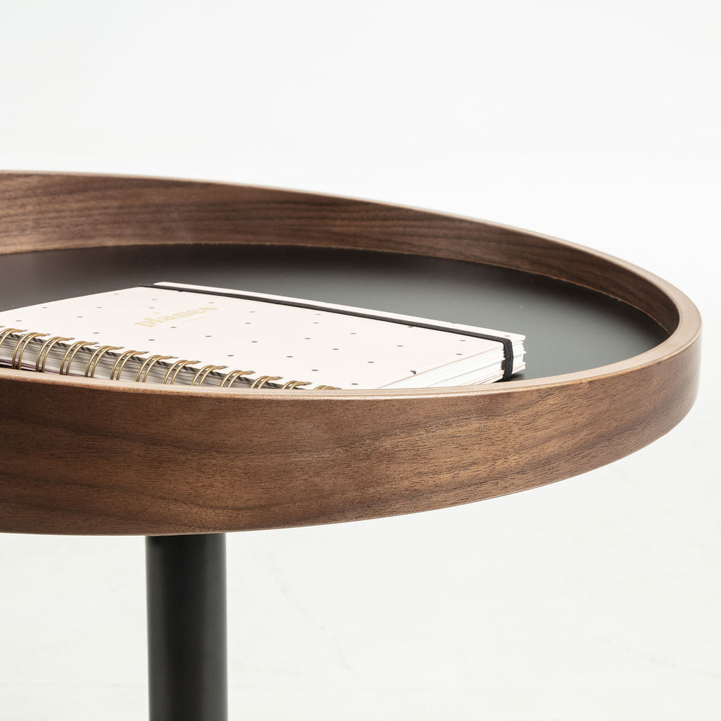 Side Table - Metal Walnut Veneer