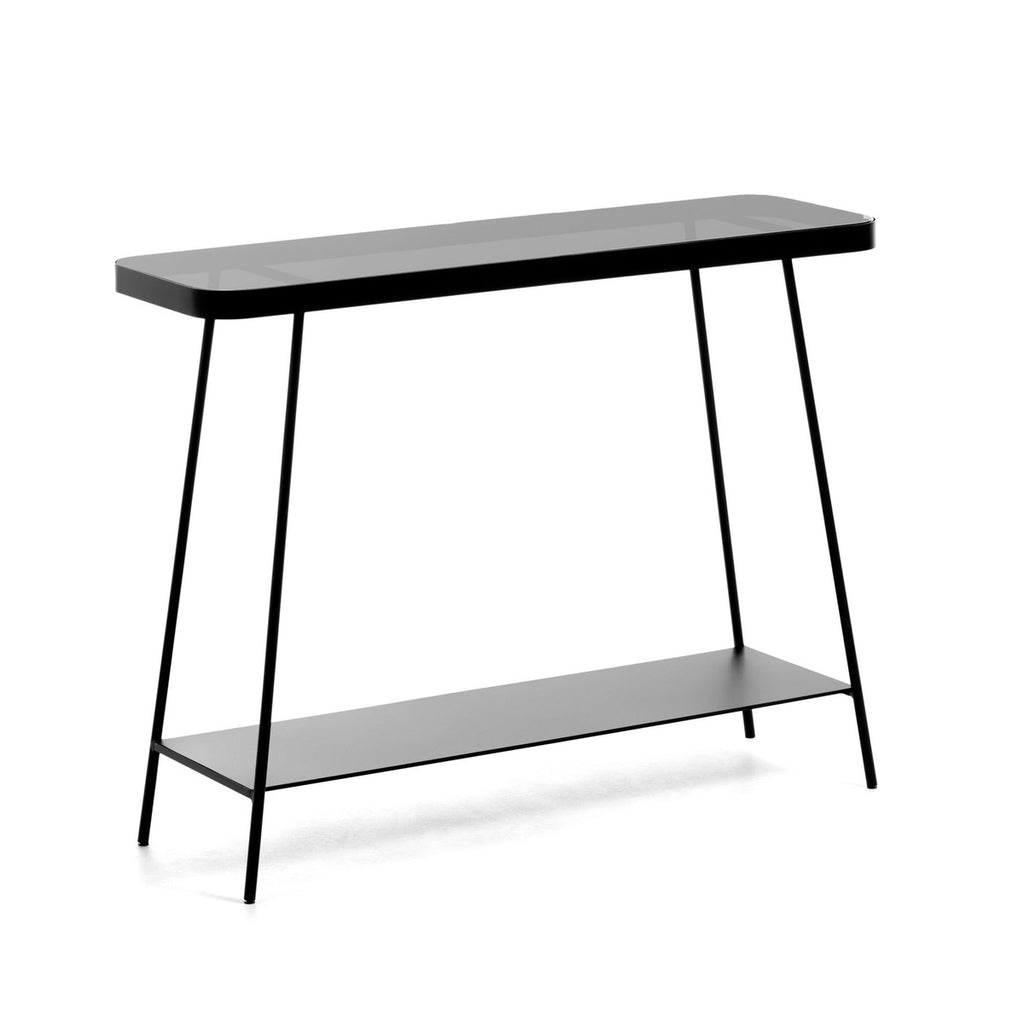 DUILIA - Smoky Black Console Table