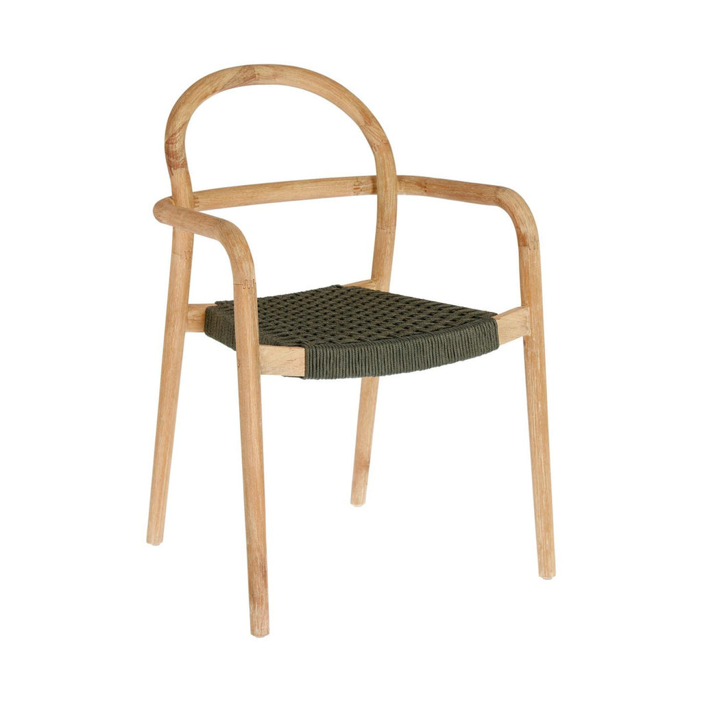 Sheryl - Timber & Green Rope Dining Chair