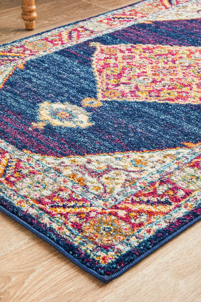 Century 966 Royal Blue Runner Rug