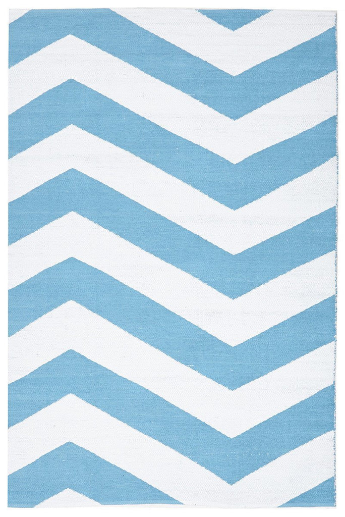Coastal Indoor Outdoor 1 Turq Rug
