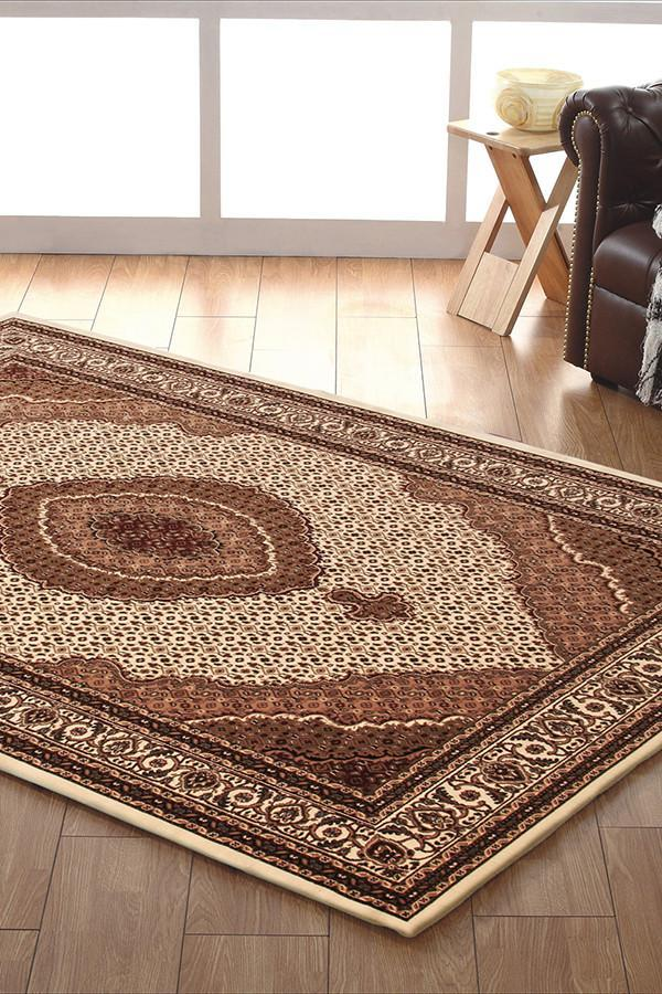 Empire Collection Stunning Formal Oriental Design Cream Rug