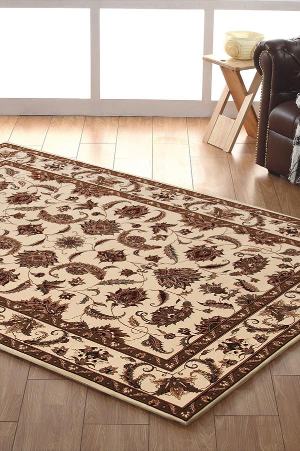 Empire Collection Stunning Formal Floral Design Cream Rug