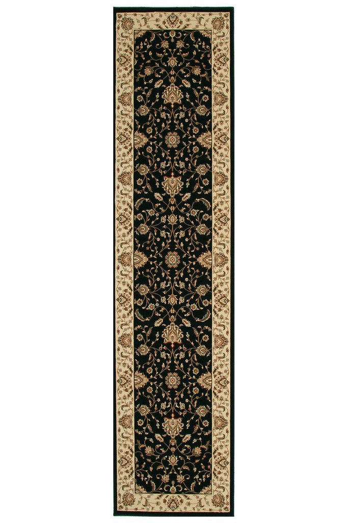 Empire Stunning Formal Classic Design Runner Rug Black