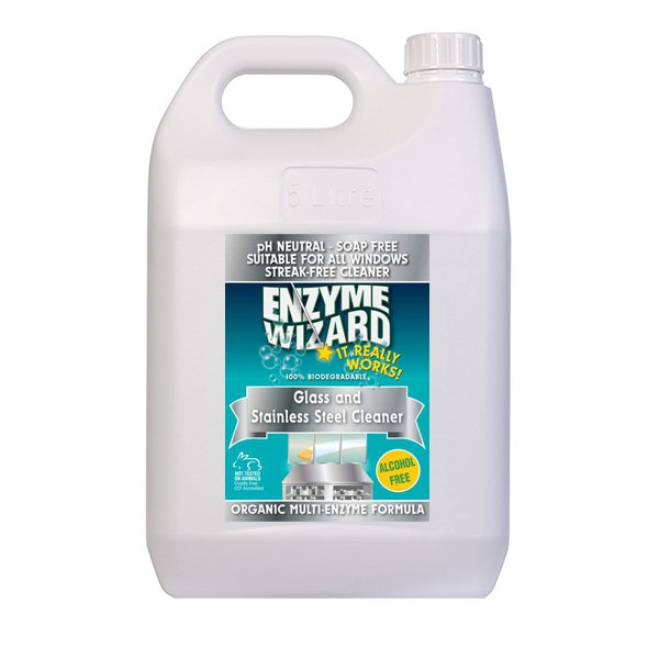 Organic Multi Enzyme Glass & Stainless Cleaner 5L