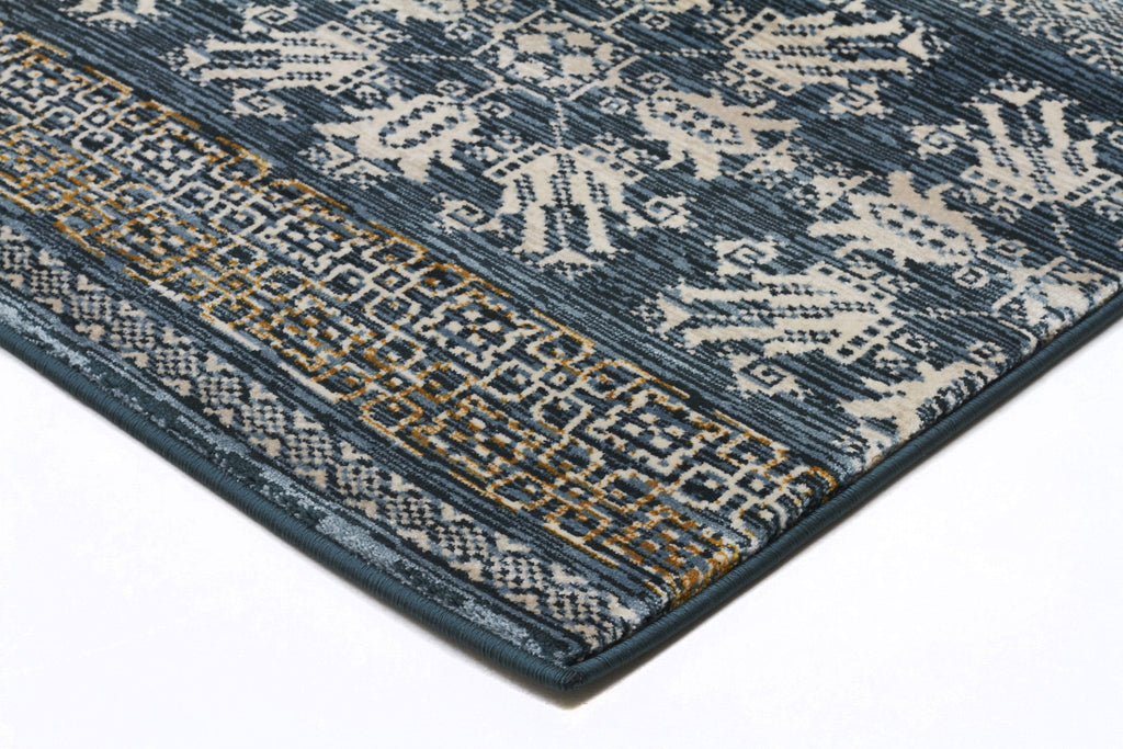 Heirloom Urban Tribe Designer Blue Runner Rug