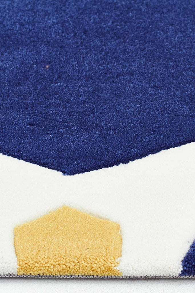Gold Collection 637 Navy Rug