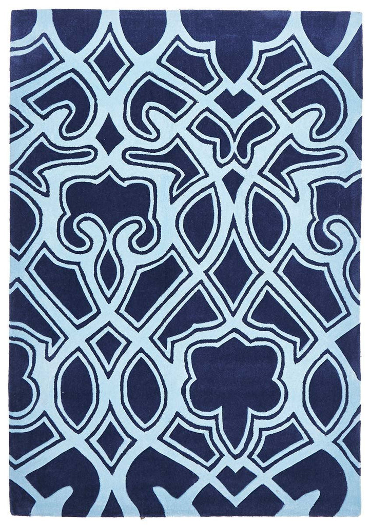 Gold Collection 641 Navy Rug
