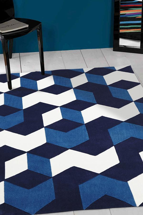 Gold Collection 647 Blue Rug
