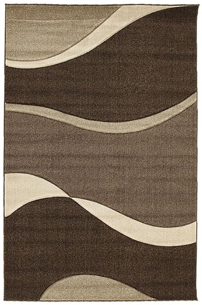 Icon Subtle Waves Rug Brown Beige