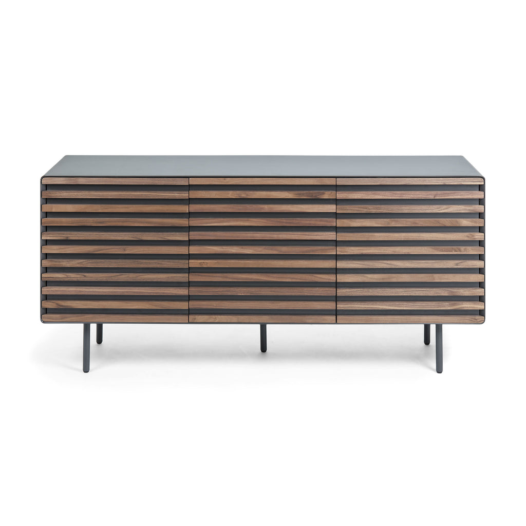 Sideboard - Walnut Veneer & Graphite