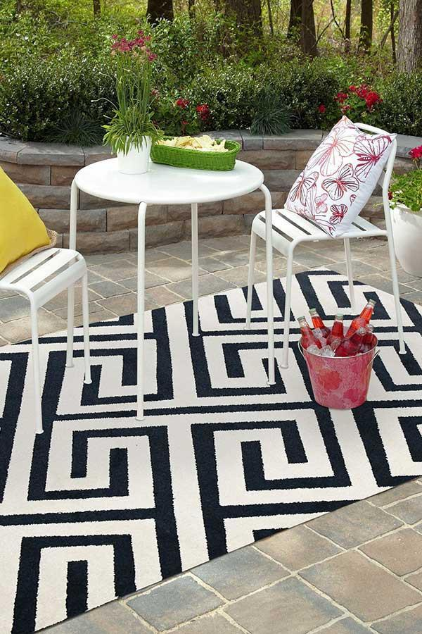 Marquee Indoor Outdoor 304 Navy Rug