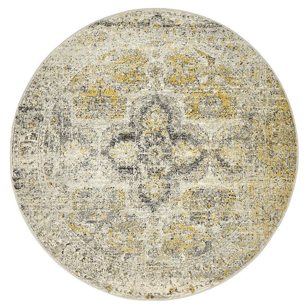 Museum Wesley Silver Round Rug