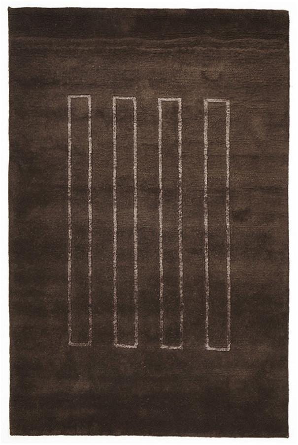NN Hand Knotted Modern Wool Rug Brown