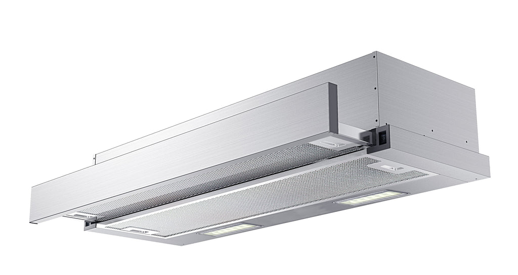InAlto Slide Out 60cm Rangehood with LED Lights,Stainless Steel