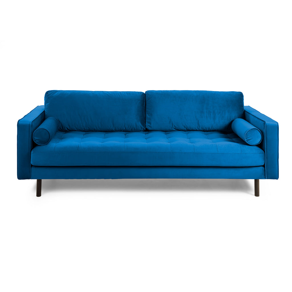 Sofa 2 Seaters Velvet Dark Blue