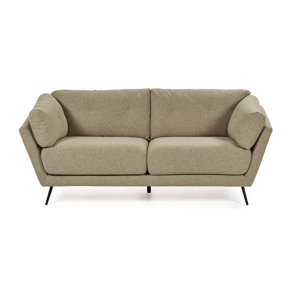 Sofa - 3 Seater Brown Fabric