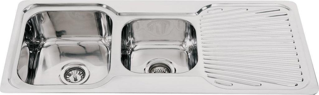 SNK175 - Double Bowl Sink with drainer