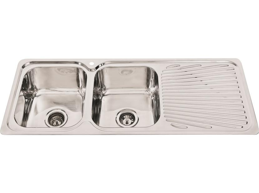 SNK200 - Double Bowl Sink with drainer