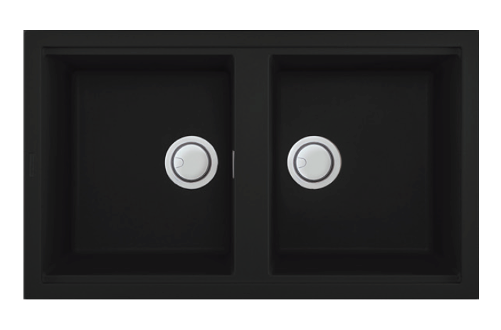SNK2B0 – Black Composite Granite Double Bowl