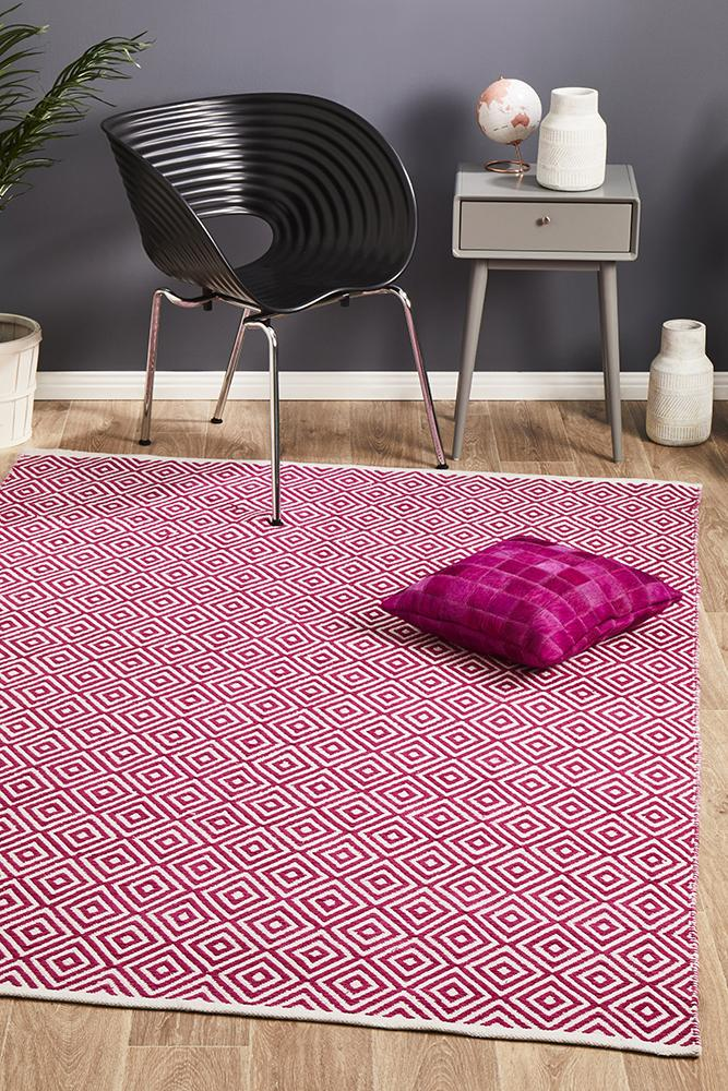 Spirit Diamond Pink Rug