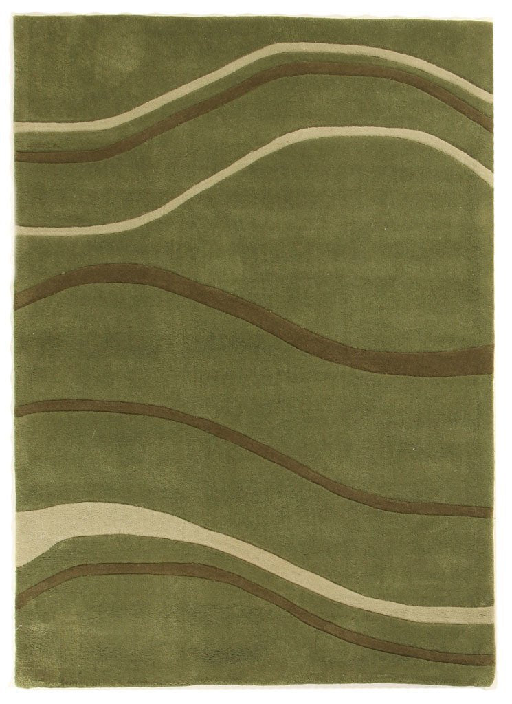 Gold Collection 109 Green Rug