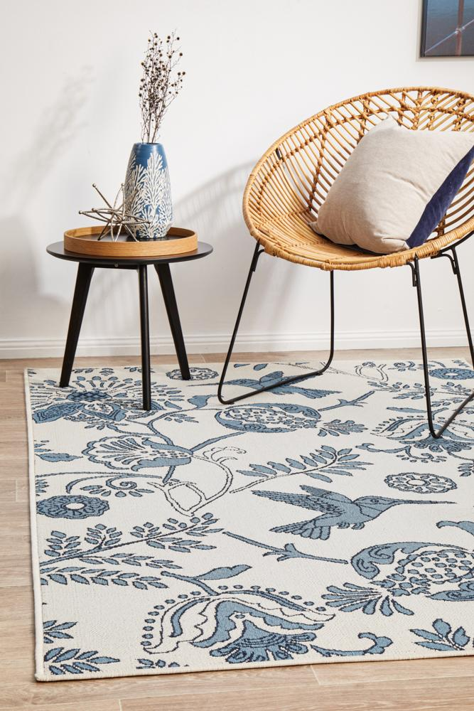 Seaside 7777 White Rug