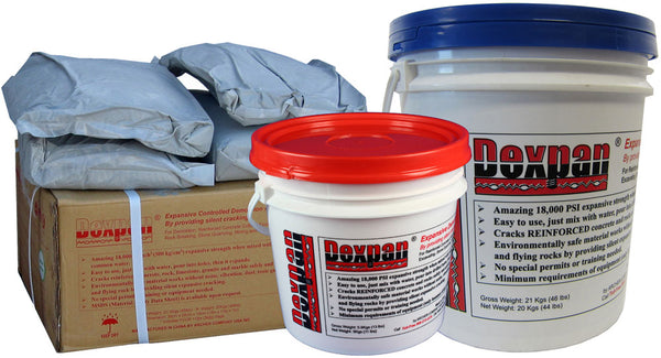 Dexpan is also known as: Chinese Dynamite, Silent Cracking Agent, Expansive Mortar Cement Powder Chemical.