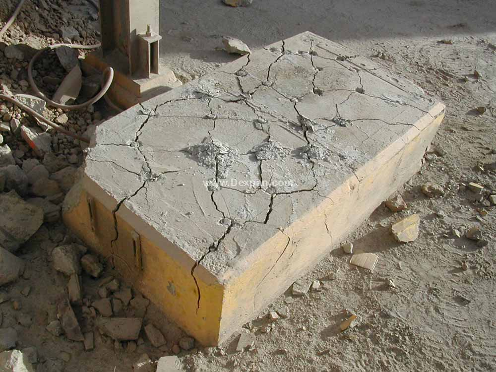 Demolition of Concrete Foundation, Concrete Cutting | Dexpan Project C001