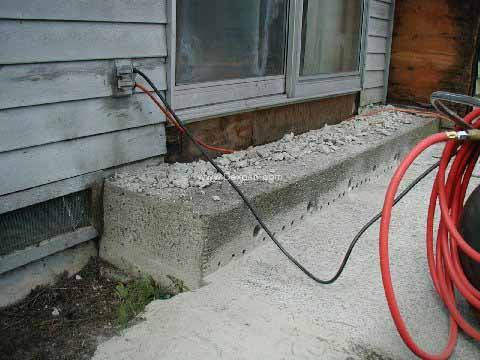Concrete Busting, Breaking with Cement Breaker | Dexpan