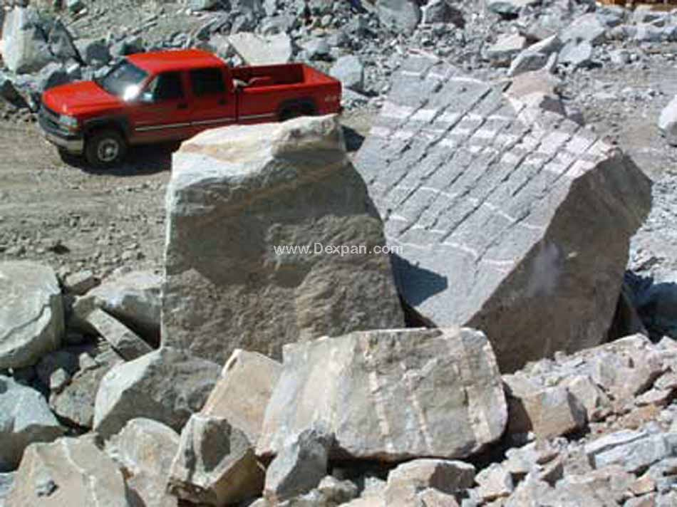Quarrying Granite Rock, Dimension Stone Quarry | Dexpan Project Q003