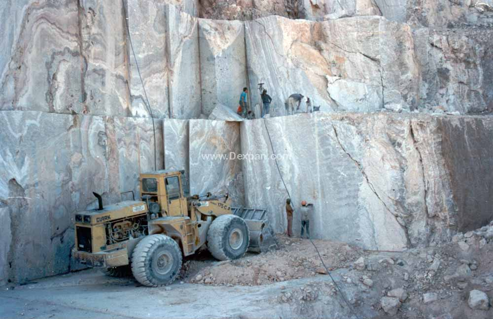 Quarrying Marble Rock, Mining No Explosive Blasting | Dexpan Project Q004