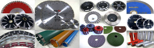 Diamond Blades, Grinding Wheels, Core Bits, Polishing Pads
