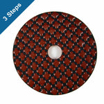 3-Step Diamond Polish Pads 4 in. for Stone Polishing