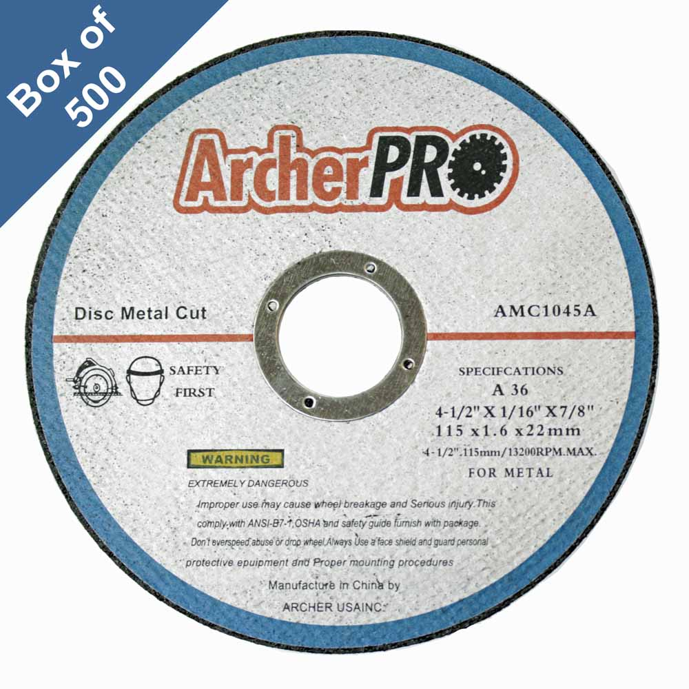 Abrasive Cut Off Wheels For Metal Cutting 4 1 2 In Box