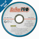 "Abrasive cut-off wheels for metal cutting 4-1/2"" x 1/16"" x 7/8"" (Box of 500)"