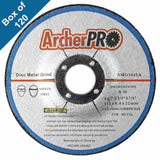 "Abrasive Grinding Wheels for Metal (Depressed) 4-1/2"" x 1/4"" x 7/8"" (Box of 120)"