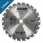 "Circular Saw Blades for Wood Cutting 7-1/4"" x 5/8"" x 24 Teeth and 40 Teeth"