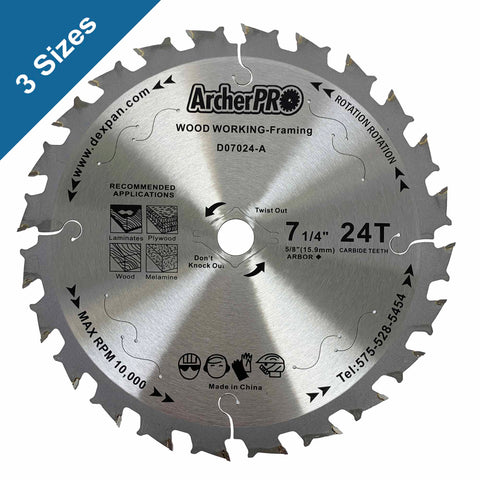 Circular Saw Blades for Wood Cutting 7-1/4""