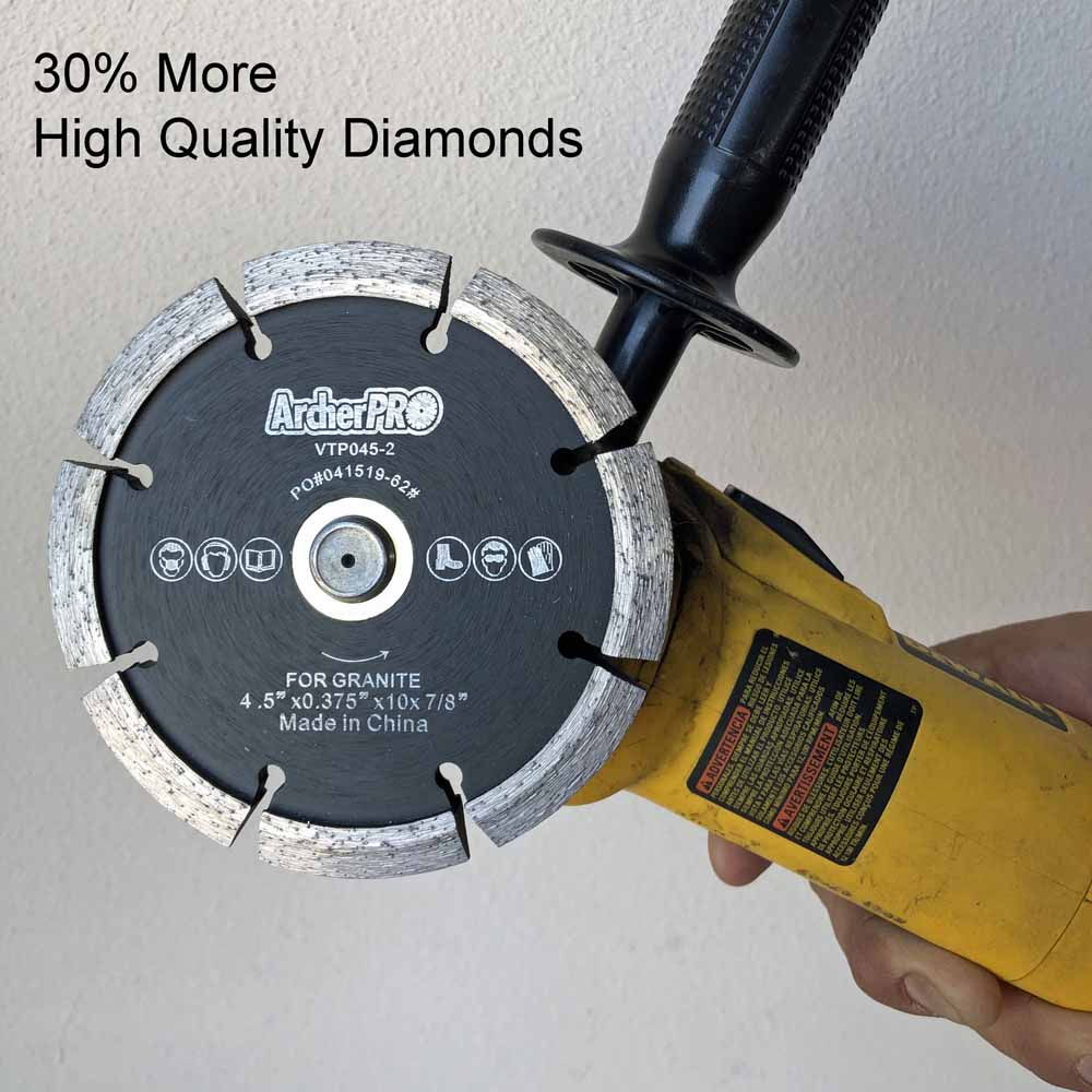 Crack Chaser Diamond Blade installed on Angle Grinder for Concrete Repair