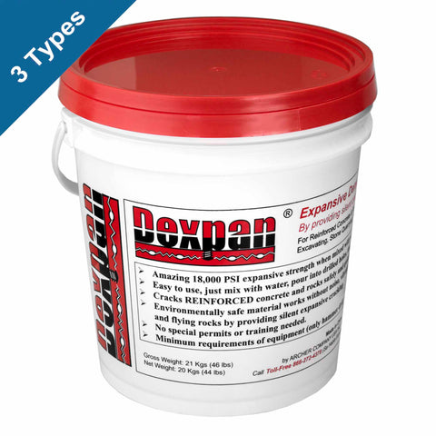 Dexpan Non-Explosive Demolition Agent 44 lb. bucket for Concrete Demolition, Rock Excavating and Mining