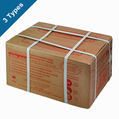Dexpan Non-Explosive Demolition Agent 44 lb. box for Rock Breaking, Concrete Removal and Stone Quarrying