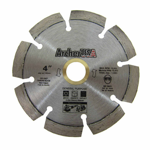 Fast Cutting! Quality General Purpose Diamond Blade 4 inch | Archer USA