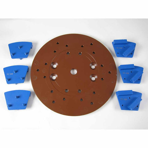 Diamond Concrete Floor Grinding Plate 10 inch (Magnetic)