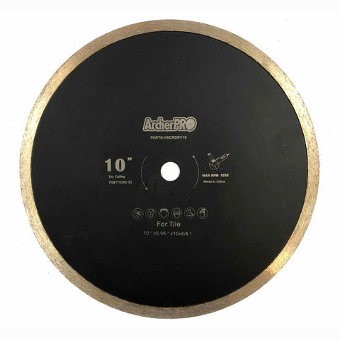 Archer PRO Professional Grade Dry Cutting Tile Blade