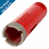 Dry Diamond Core Bits with Side Strips for Stone Drilling