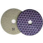 Dry Diamond Polish Pads 4 in. for Stone Polishing (8 Grits)