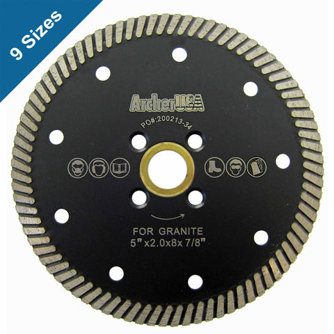 Narrow Turbo Diamond Blades for Granite Cutting