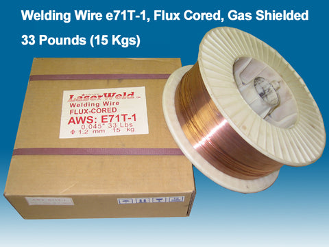 "Welding Wire E71T-1 0.045"" (1.2 mm), 33 lb Spool"